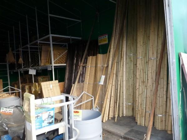 天然竹垣用材料