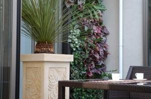 モダンな壁面緑化